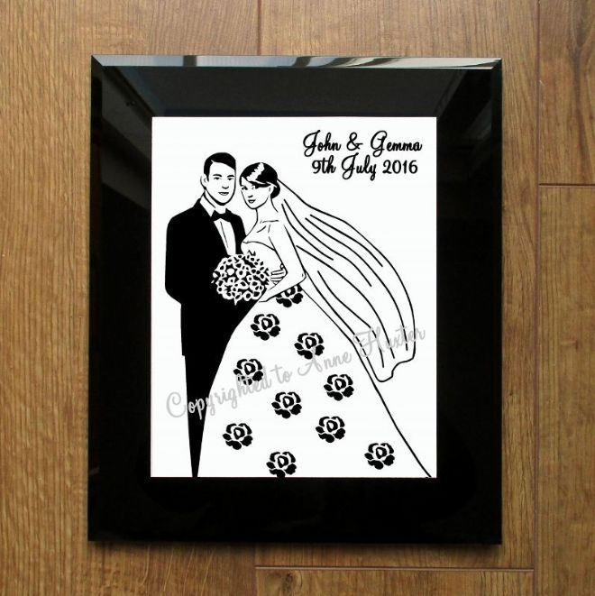 Wedding Couple Vinyl Design Template